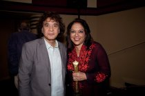 Image of Zakir Hussein and Mira Nair, 2012                                                                                                                                                                                                             - Image, Digital
