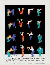 Image of 1990 poster from the Mill Valley Film Festival                                                                                                                                                                                                             - Mill Valley Film Festival Collection