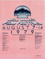 Image of 1979 poster from the Mill Valley Film Festival                                                                                                                                                                                                             - Mill Valley Film Festival Collection