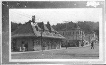 Image of Mill Valley Depot (3rd) station and dowtown Mill Valley, circa 1920s                                                                                                                                                               - Print, Photographic