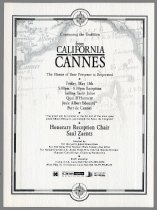 Image of From California to Cannes invitation, 1998 - Mill Valley Film Festival Collection