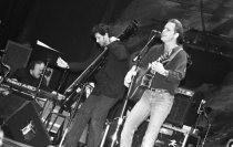 Image of Bob Weir and Rob Wasserman performing at an event honoring music producer Hal Willner, 1990                                                                                                                                                                    - Negative, Roll Film