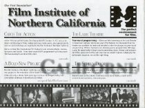 Image of Inaugural newsletter of the Film Institute of Northern California, 1996 - Mill Valley Film Festival Collection