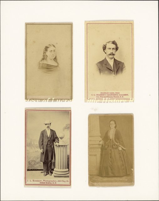 Carte De Visite Portraits Of Unidentified Reed Family Members Date Unknown