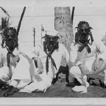 Image of Sailors in gas masks