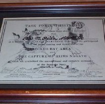 Image of Certificate, Commemorative - Task Force Thirty-One / Tokyo Bay Occupation Force