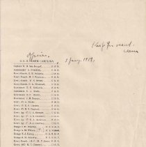 Image of Roster - Officers USS North Carolina