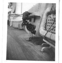 Image of Climbing on gun turret - 2011.023.014