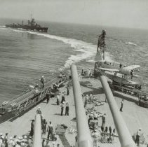 Image of Fantail of BB-55 while underway, ca. 1941 - 1992.050.0007