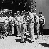 Image of Admiral Cooley(?) awarding medal