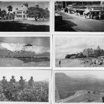 Image of 3 sets of photos of Hawaii. Each set has six pictures.
