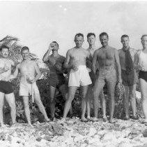 Image of Officers on liberty, Mogmog Island, Ulithi - 1996.025.0004