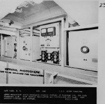 Image of Aft degaussing motor generator station. - 2015.001.060