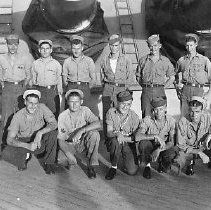 Image of Unidentified group on deck - 1982.004.0023