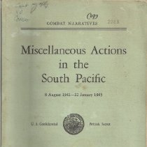 Image of Book - Combat Narratives: Miscellaneous Actions in the South Pacific 8 August 1942 - 22 January 1943