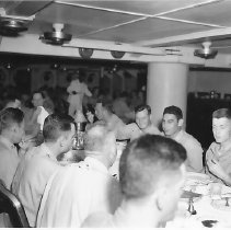 Image of Officers eating in Wardroom - 1997.040.0077