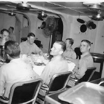 Image of Farewell dinner for Capt. Fahrion in Wardroom - 1999.047.0015
