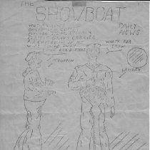"""Image of Pencil drawing  from  """"Showboat Daily News"""""""
