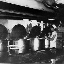 Image of Cooks in Crew's Galley - 1982.010.0173