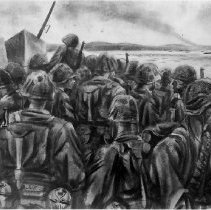 "Image of ""Marines Going in, D-Day (Okinawa)"" by Lt Mitchell Jamieson - 2016.001.062"