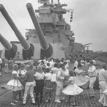Image of Square Dancing Aboard BB-55