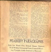 Image of Peabody Paragraphs, 9/23/1926