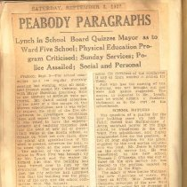 Image of Peabody Paragraphs, 9/3/1927