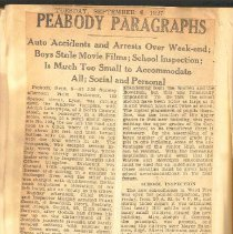 Image of Peabody Paragraph, 9/6/1927