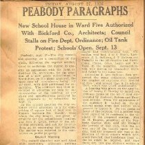 Image of Peabody Paragraphs, 8/27/1926