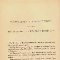 Image of 1889 Trustee's Report