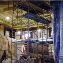 Image of Sutton Room during restoration