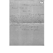 Image of Charles Upham letter