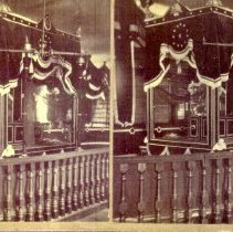 Image of Peabody lying in state