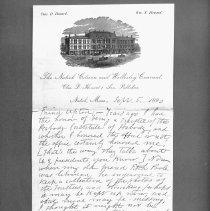 Image of Charles D. Howard letter