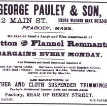 Image of Pauley advertisement 1899
