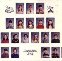 Image of Class Photo Farnsworth School Grad 5 1981-1982