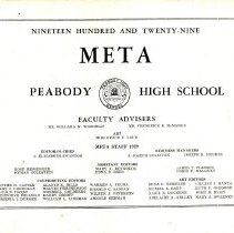 Image of 1929 Peabody High School Yearbook
