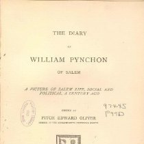 Image of F 74 S1 P99 - Diary of Pynchon from 1776 to just before his death in 1789.