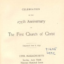 Image of F 74 L98 L976 - Includes: -Programme of events -List of participants -Addresses -Sermons -Appendix with list of ministers who served at church