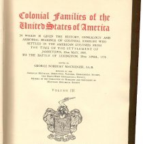 Image of CS 61 M2 Vol. 3 - Colonial Families Of The United States Of America.  Vol. III