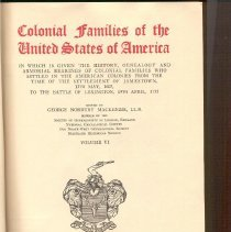 Image of CS 61 M2 Vol. 6 - Colonial Families Of The United States Of America.  Vol. VI