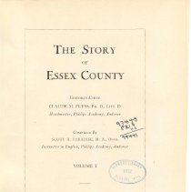 Image of F 72 E7 P2 Vol. I - Story of Essex County - Vol. 1