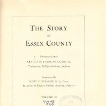 Image of F 72 E7 P2 Vol. II - The Story Of Essex County.  Volume II