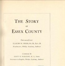 Image of F 72 E7 P2 Vol. III - Story of Essex County Vol. 3