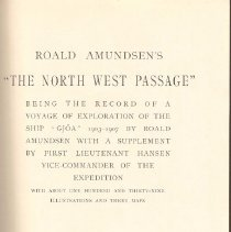 Image of G 650 1903 A71 v.2 - Account of Amundsen's voyage to the North Pole.