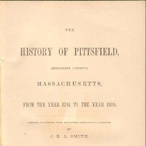 Image of F 74 P6 S6 v.1 - History of Pittsfield, Mass.