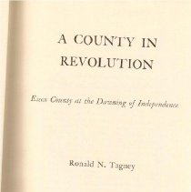 Image of F 72 E7 T33 1976 - Book about the 21 towns of Essex County and their evnovlement in the American Revolution.