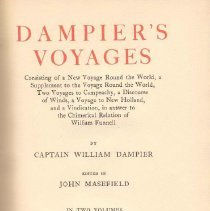Image of G 420 D15 Vol. I - Includes biography of William Dampier, and a reprint of his travels around the world.