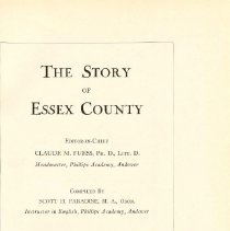 Image of F 72 E7 P2 Vol. IV - Story of Essex County -- Vol. 4