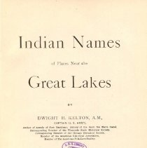 Image of F 551 K29 - Includes pronunciation guide and alphabetical names originating with Native Americans of the midwest.
